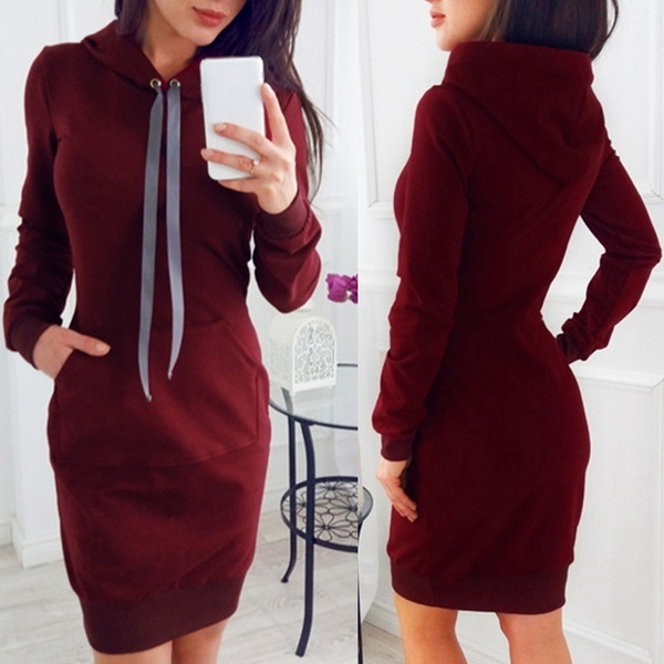 Robe pull maille large
