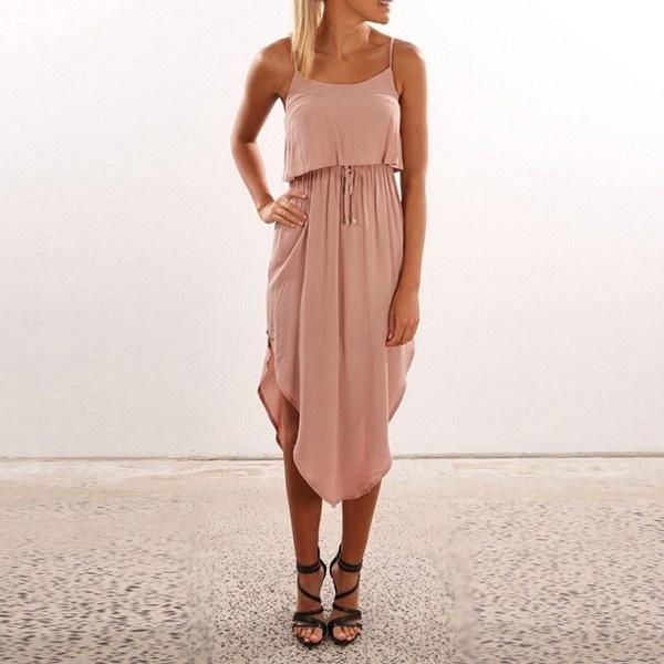 Wish | Plus Size Fashion Damen-Sommer-Sleeveless Backless Maxi-Kleid ...
