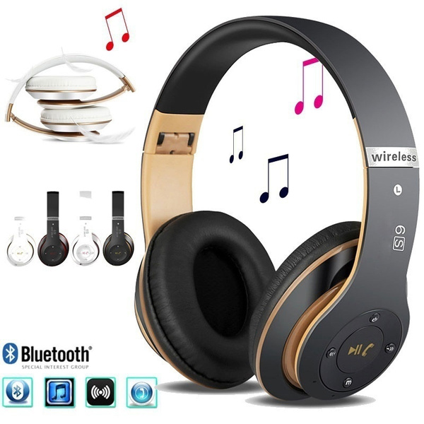 6s Bluetooth Headphones Wireless Bluetooth 4 0 Heavy Bass Stereo Folding Auriculares With Mic Support Tf Sd Card Wish