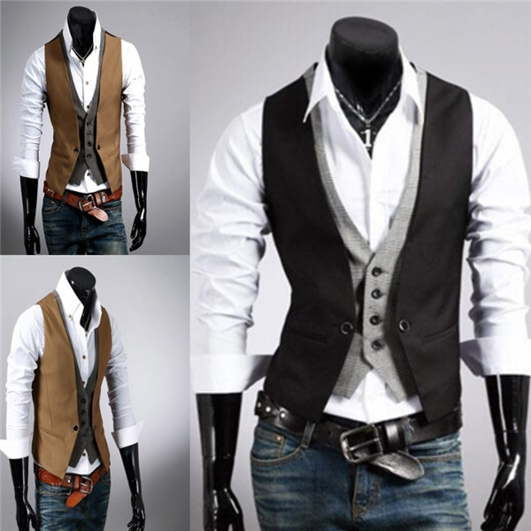 Anzug mit weste slim fit