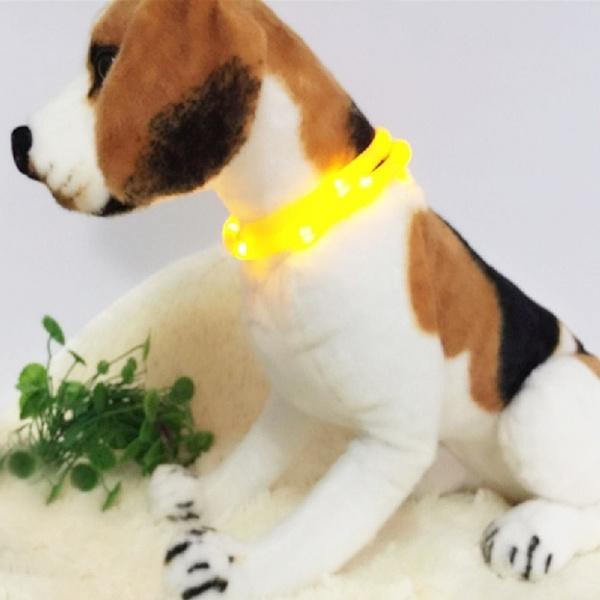 Usb Aufladbar Led Halsband Leuchthalsband Hund Leuchtend Licht Blink Kragen Nett