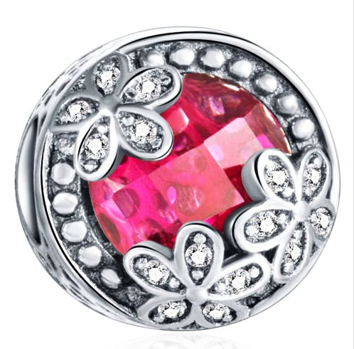 DIY Crown European CZ Crystal Charm Silver Spacer Beads Fit Necklace Bracelet
