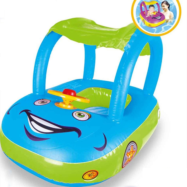 Baby Swimming Ring Float Rubber Swimtrainer Car Shape Safe Flotador Inflatable
