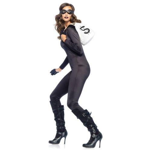 Adult Halloween Female Cat Burglar Fancy Dress One Size Costume