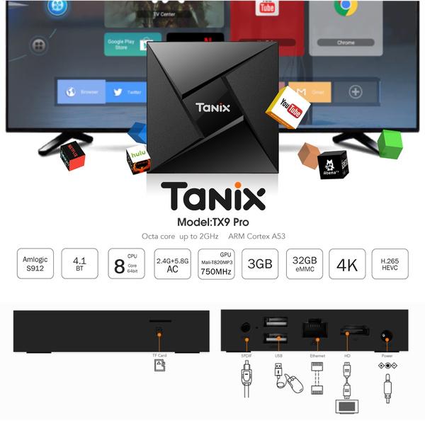 Resultado de imagen para TV BOX TANIX TX9 PRO 3GB RAM - 32GB ROM