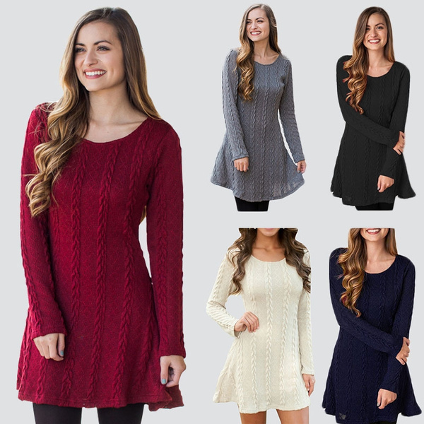 Plus Size, Long Sleeve, Cocktail Party Dress, Dress