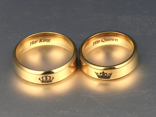 Couple Rings, Steel, Fashion, Jewelry