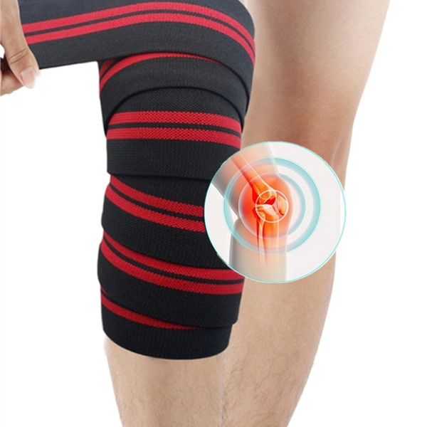 Durable Simple Style Adjustable Bandage Knee Support Wrap Guard