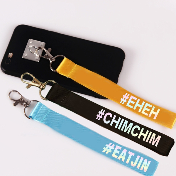 Kpop BTS Bangtan Family Portrait BTS Youth Group with the Name of the  Surrounding Name Lanyard Custom Key Ring Couple Creative School Bag Lanyard  Gift