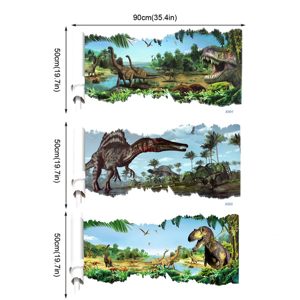 Wish Stickers Wall Kids Home Diy Dinosaur Removable Decal Bedroom Children S Room