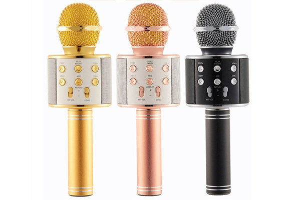 Wireless Bluetooth KTV Karaoke Microphones Player Speaker for iPhone Android Education Music Toys for Children