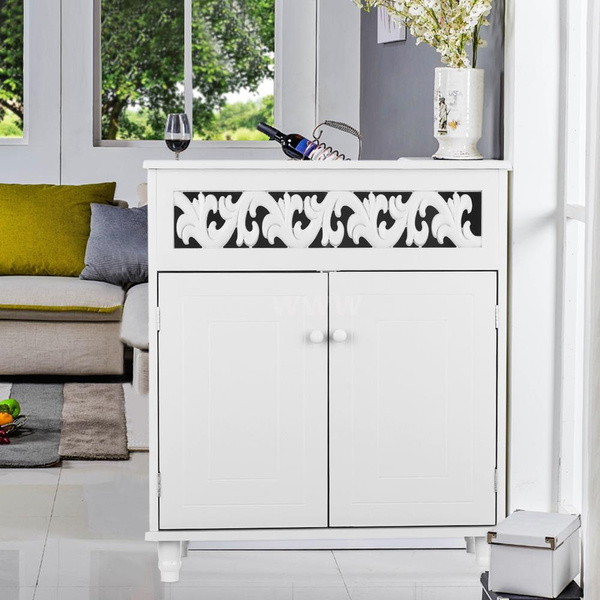 Pleasing Ikayaa Modern Double Door Floor Cabinet Shelved Storage Cabinet Bedroom Bathroom Furniture White Blue Download Free Architecture Designs Licukmadebymaigaardcom