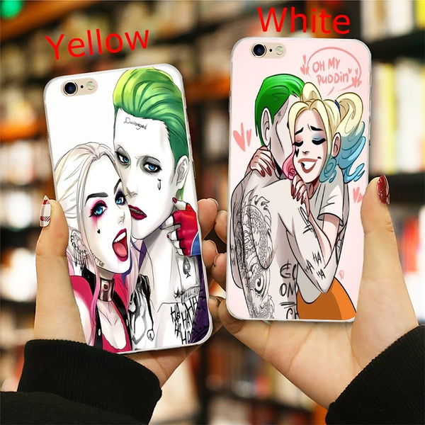Halloween Harley Quinn And Joker Fan Art  Soft Silicone Phone Case For Iphone6 7 8 X Xs Max Xr Samsung Galaxy S6 S7 S8 S9 S10 Plus Note8 9 One Plus Huawei P30 Mate 20 Phone Cover by Wish