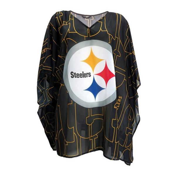 meet bea6c c65b6 Little Earth 300627-STLR-TRACE Pittsburgh Steelers Team Caftan Trace