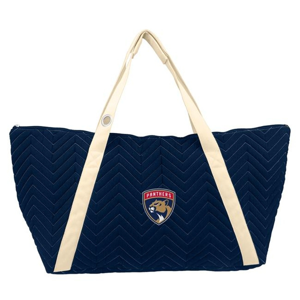 Wish Little Earth 501316 Pntr 1 Nhl Florida Panthers Chevron Sch Weekender Bag Navy