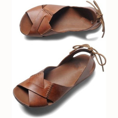 casual shoes, Summer, solidsandal, brown