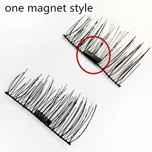 449445ea41b 2 Pairs/4pcs Lasting Three Magnet False Eyelashes 3D Magnetic ...