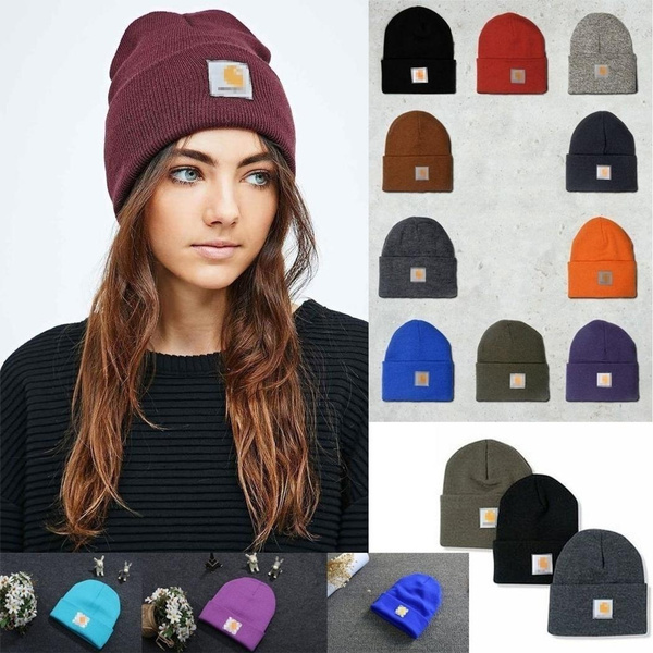 5ae84ce14fa 8 Colors Men Ladies Casual Knitted Woolen Winter Elastic Slouch Beanie Hat  Cap Skateboard