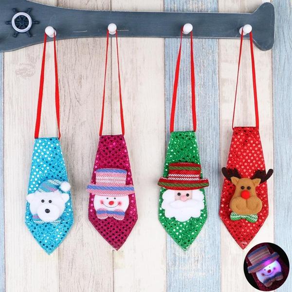 Deco Noel Crochet.1pcs Christmas Tie With Light Pendant Drop Ornaments Deco Noel A Suspendre Ou A Poser
