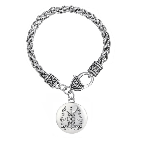 Papa Damballah Voodoo Loa Veve Pendant Lwa Protection Amulet Hoodoo  Talisman Charm Trendy Bracelets