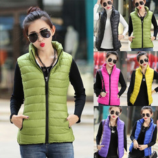 Stand Collar, zippervest, vestcoat, Winter