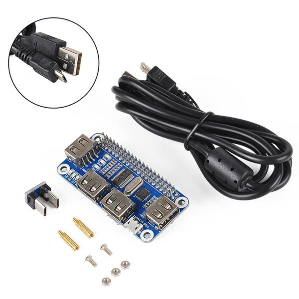 Raspberry Pi 3 Zero W HUB Expansion Board USB to Serial Port HUB Expansion  Board Hub for Raspberry Pi Mode B/B and Zero W