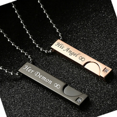 Steel, Necklaces Pendants, Stainless Steel, lover gifts