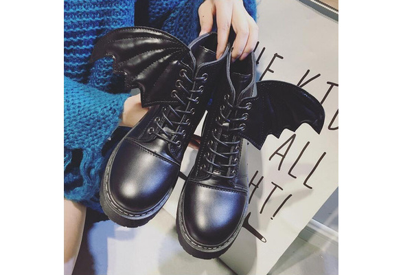 Women Fashion Create Martin Boots With Angel Wings Thick Buttom Boots sh171012-248