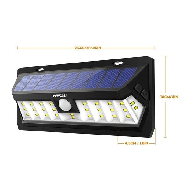 Wish Mpow 30 Led Lampe Solaire Exterieur Etanche Panneau Solaire