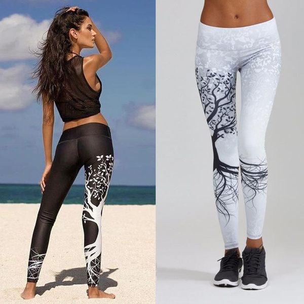 Super Hot Women Printed Sports Yoga Workout Gym Fitness Exercise Athletic Pants Home