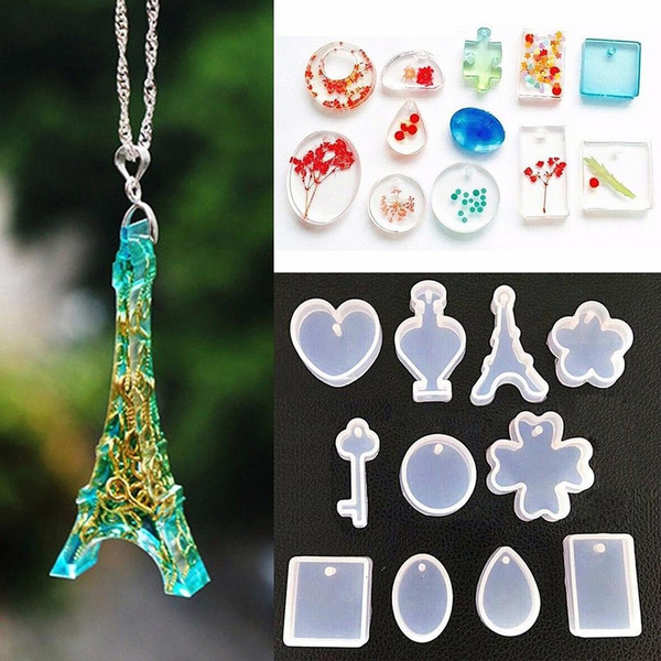 Jewelry Pendant Resin Casting Mould DIY Clear Silicone Mold Making Craft  Tool