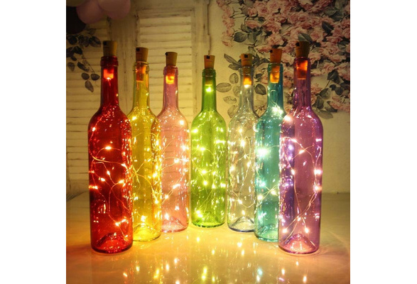 Hot Sale! Wine Bottle Cork Lights Copper Wire String Lights for Wedding Festival Party Decor