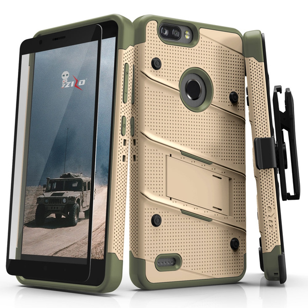 ZIZO BOLT Series compatible with ZTE Blade Z Max/ZTE Z982 with Screen  Protector, Kickstand [Military Grade Drop Tested] Holster