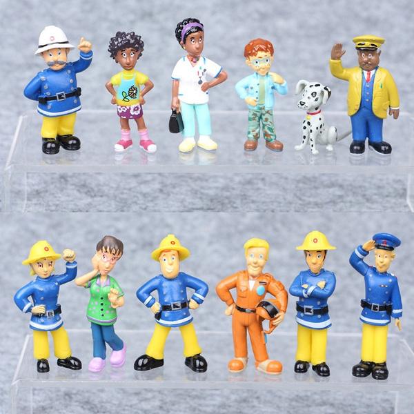 12pcsfiremanpvcdoll, Toy, Gifts, firemansam