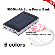 portablesolarcharger, 50000mahpowerbank, solarpanelbattery, Battery