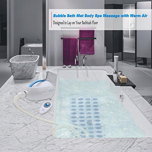 Wish | SereneLife Bubble Bath Tub Mat Massage Jacuzzi | Thermal Spa |  Waterproof Non Slip Mat | Tub Spa Massager | Keep Warm Function Bath Mat |  Relaxing ...