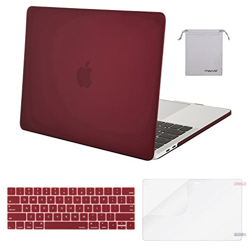 Mosiso MacBook Pro 13 Case 2017 & 2016 Release A1706/A1708, Plastic Hard  Case Shell with Keyboard Cover with Screen Protector with Storage Bag for
