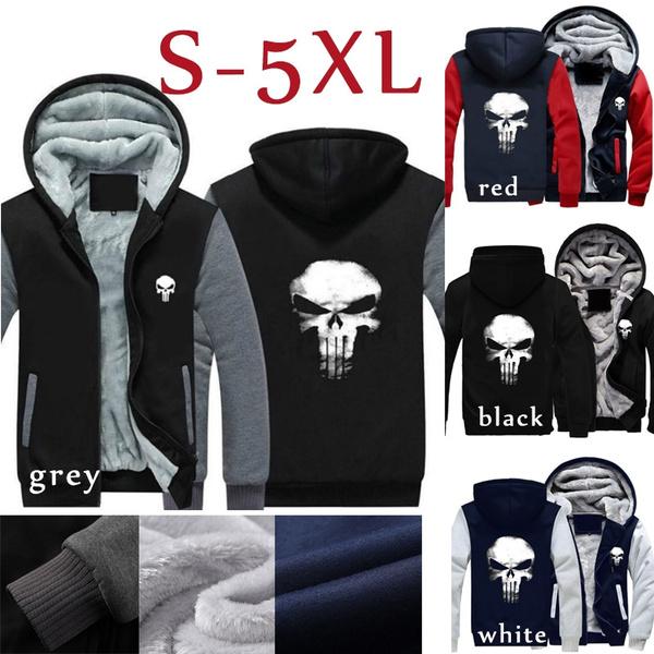 b7579c13131f41 The Punishing Skull Punisher Skull Cosplay Coat Women Men Zipper Hoodie  Winter Fleece Unisex Thicken Jacket Sweatshirts | Wish