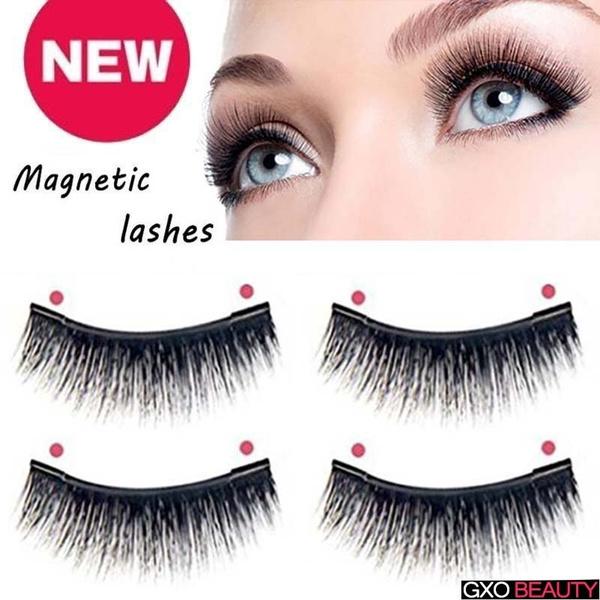 5a3aed2930a New 4Pcs/Set 3D Mink Hair Magnetic False Eyelashes Soft Think Black Magnet Fake  Eyelashes Fashion Make Up Magnetic Eyelashes   Wish