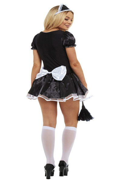 Wish French Maid Fancy Dress Costume Womens Outfit Plus Size Sexy