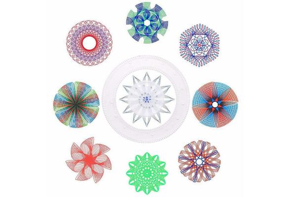 27pcs Original Spirograph Design Set Tin Draw Ruler Kids Art Craft Create