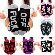 Funny, slipperssock, Cotton Socks, letter print