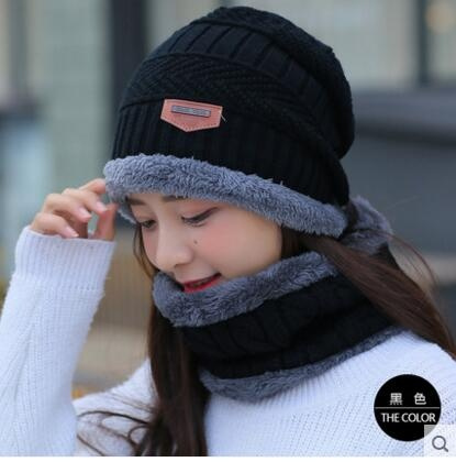 602520559 Hot Sale Neck Warmer Ski Cap and Scarf Cold Warm Fur Lining Winter Hat for  Women Men Knitted Thick Velvet Beanies Hat Bonnet