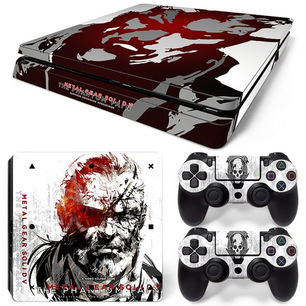 Digital Print Sticker Covers Skins Decal Set for PS4 slim Playstation 4  Console Controller Protector - Metal Gear Solid