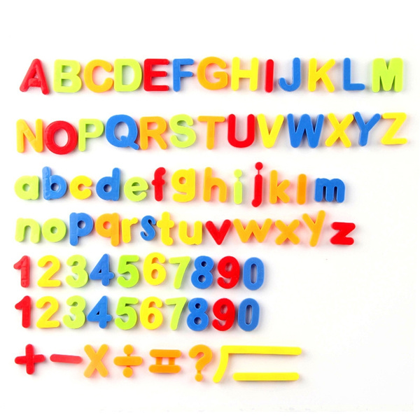 80Pcs//Set Fridge Magnet Letters  Education Alphabet Numbers Baby Toys For New