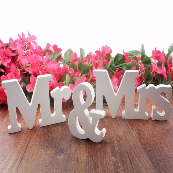 Mama A Z Wood Wooden Letters Alphabet Wedding Birthday Home Decor