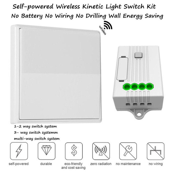 Phenomenal Lilymm Wireless Light Switch Kit Self Powered Kinetic Switch And Wiring Cloud Hisonuggs Outletorg