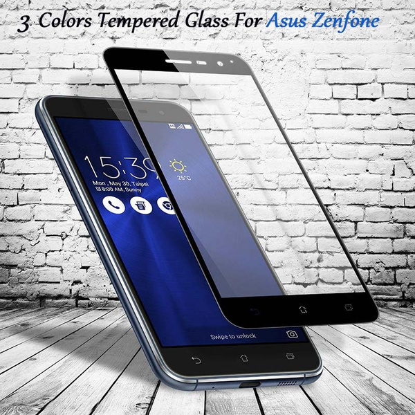 new product e34fa e40b8 9H Colorful Full Cover Tempered Glass Anti Shatter Toughened Screen  Protector Protective Film For Asus Zenfone 3 ZOOM ZE553KL / 3 MAX ZC553KL /  3 ...