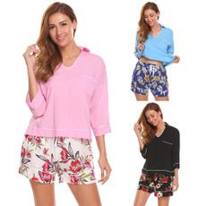 pajamaset, Shorts, Shirt, Sleeve