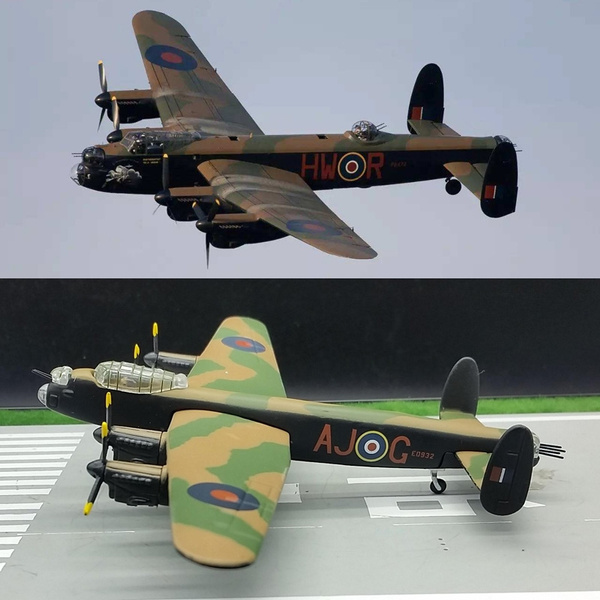 1:144 Scale Alloy Aircraft Model World War II British Bombers Lancaster  Plane Toy For Souvenir Collection Gift Home Office Decoration
